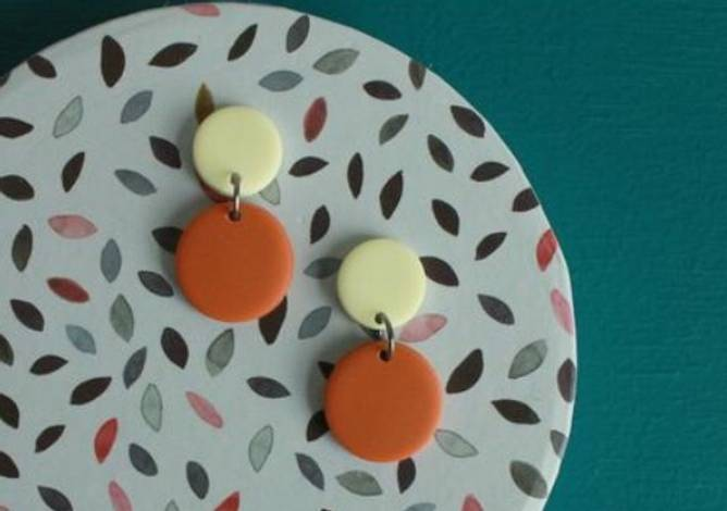 Bilde av Candymoon øredobber lysegul/brendtborange