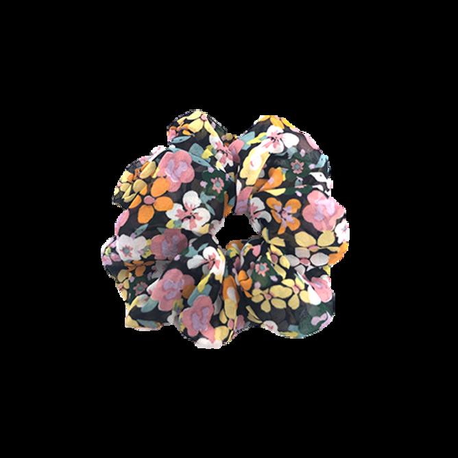 Bilde av Scrunchie sort med blomster