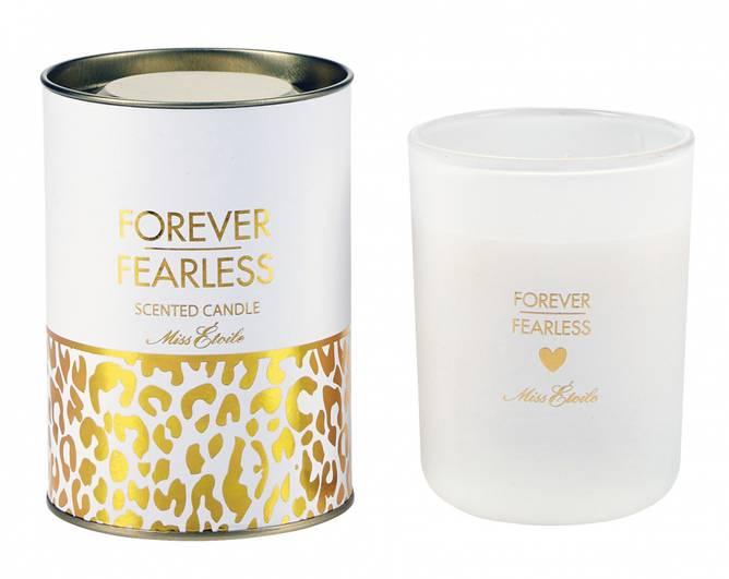 Bilde av ME Glass jar with candle in tu white