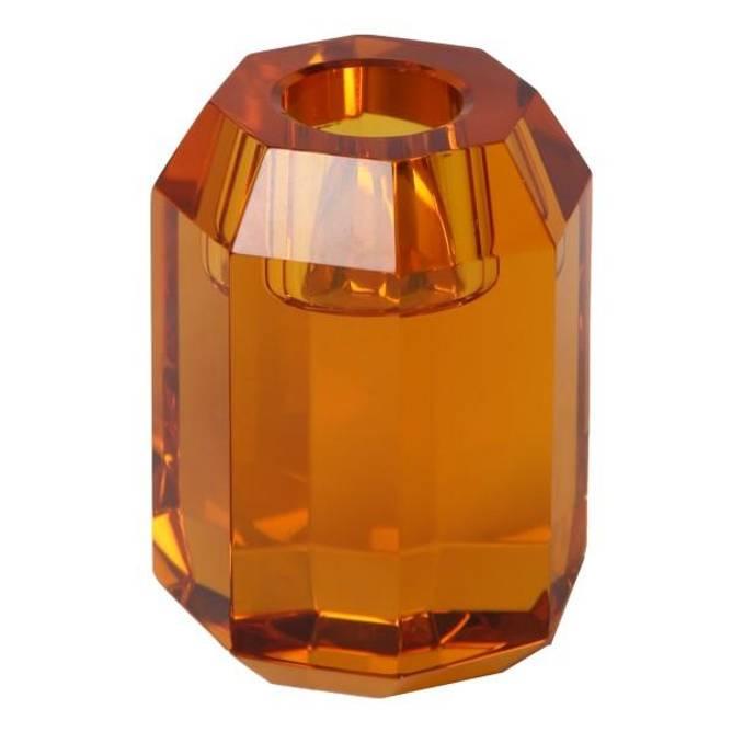 Bilde av Krystal lysestage fra C'est bon orange